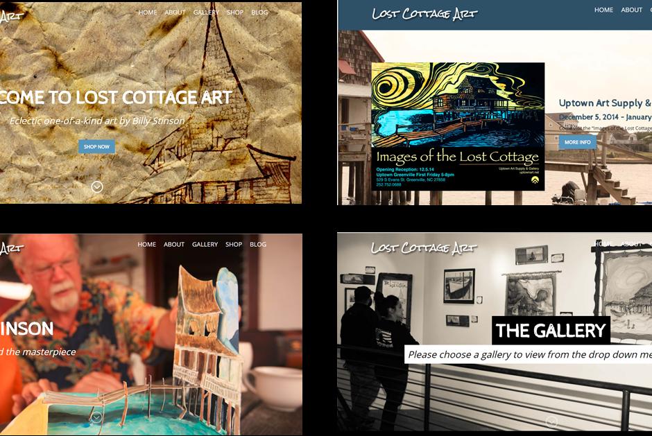 graphic design website design of Lost Cottage Art pic