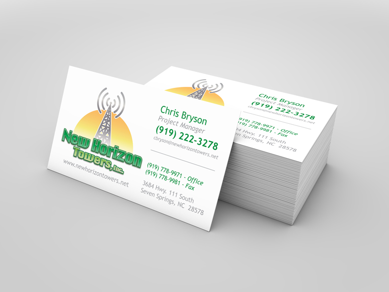 Business cards cg design new horizon towers reheart Image collections